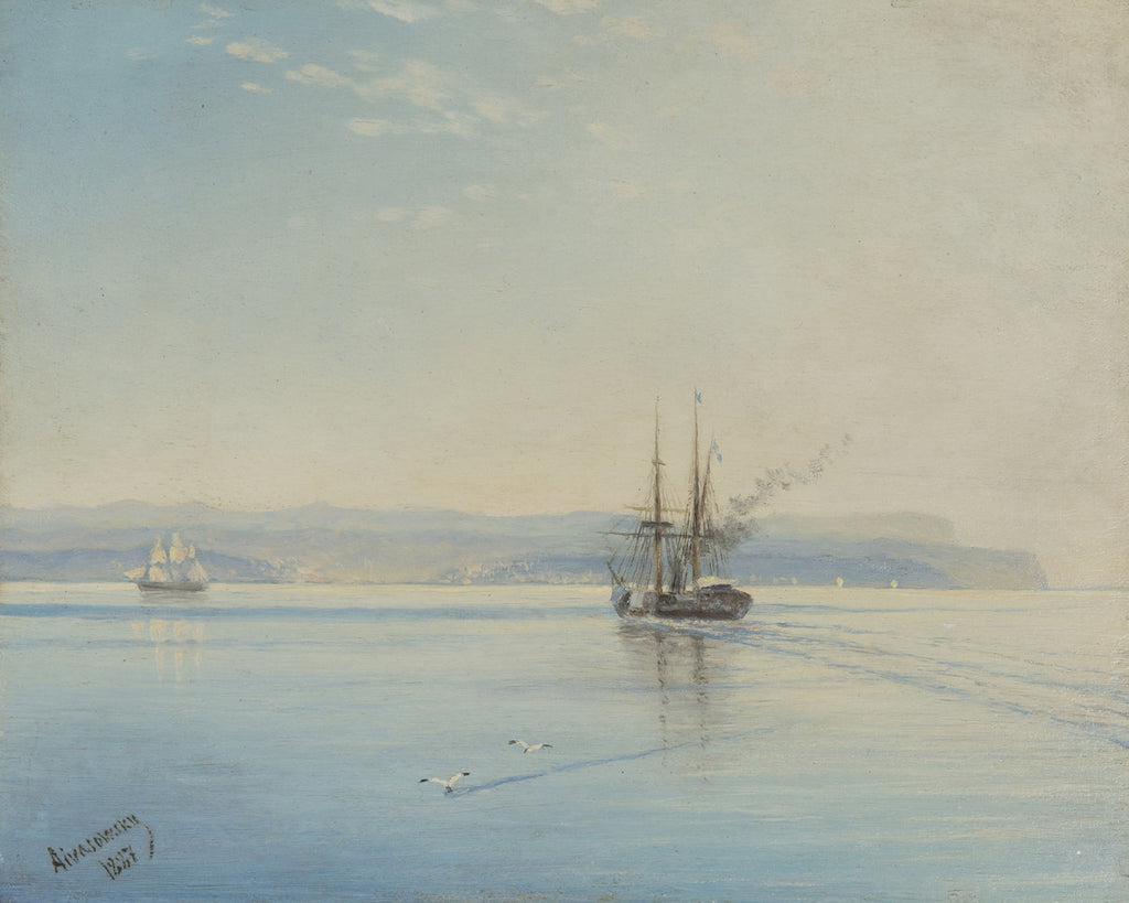 Ivan Konstantinovich Aivazovsky - Steamer Returning Home
