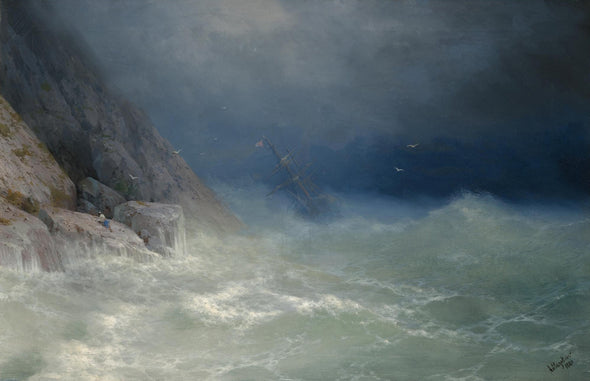 Ivan Konstantinovich Aivazovsky - The Survivor