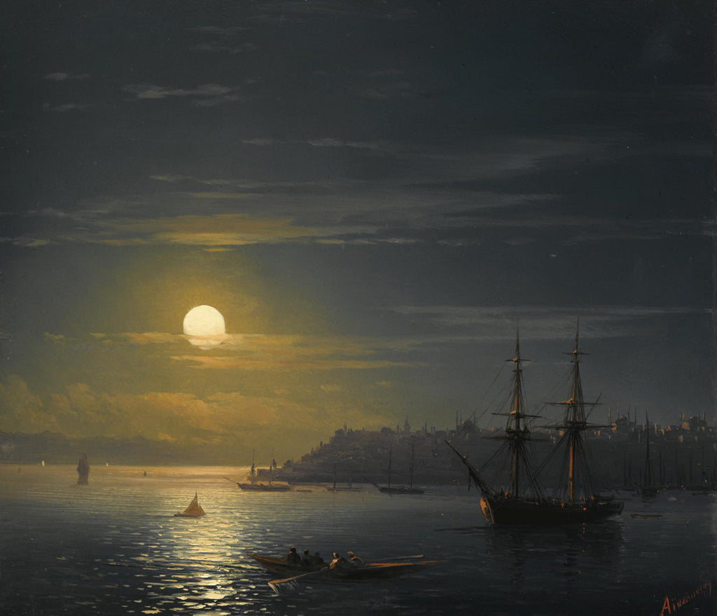 Ivan Konstantinovich Aivazovsky - View of Constantinople in Moonlight
