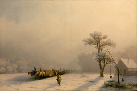 Ivan Konstantinovich Aivazovsky - Winter Caravan on the Road