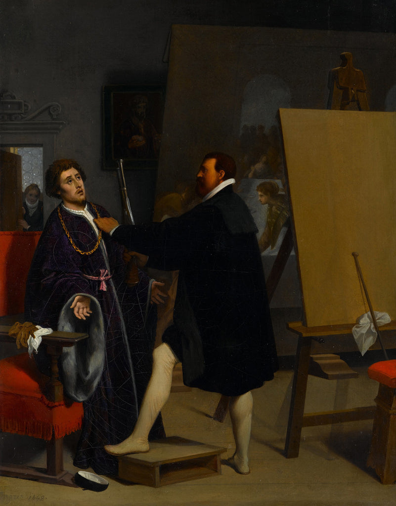 Jean-Auguste-Dominique Ingres - Aretino in the Studio of Tintoretto