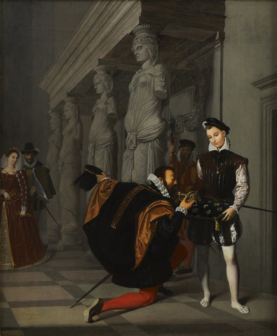 Jean-Auguste-Dominique Ingres - Don Pedro of Toledo Kissing Henry IV's Sword