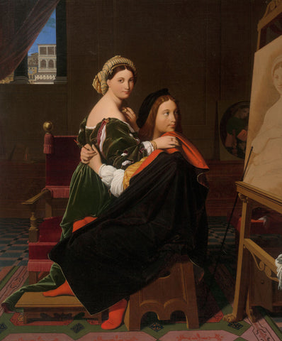 Jean-Auguste-Dominique Ingres - Raphael and the Fornarina