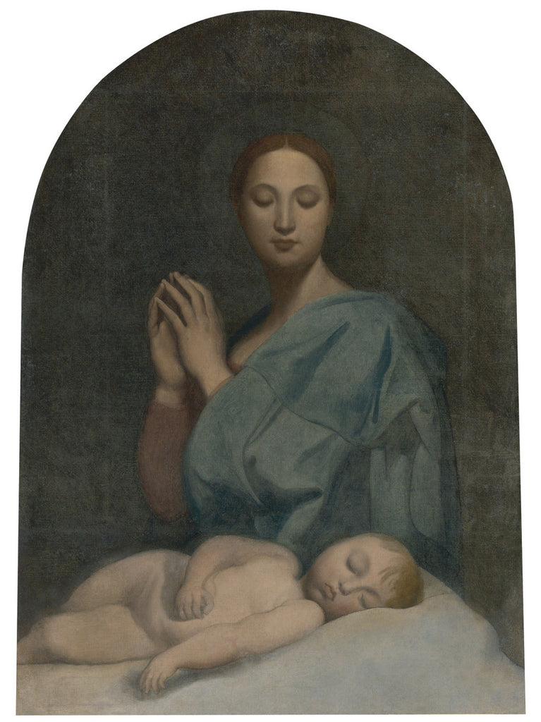 Jean-Auguste-Dominique Ingres - The Virgin with the Sleeping Infant Jesus
