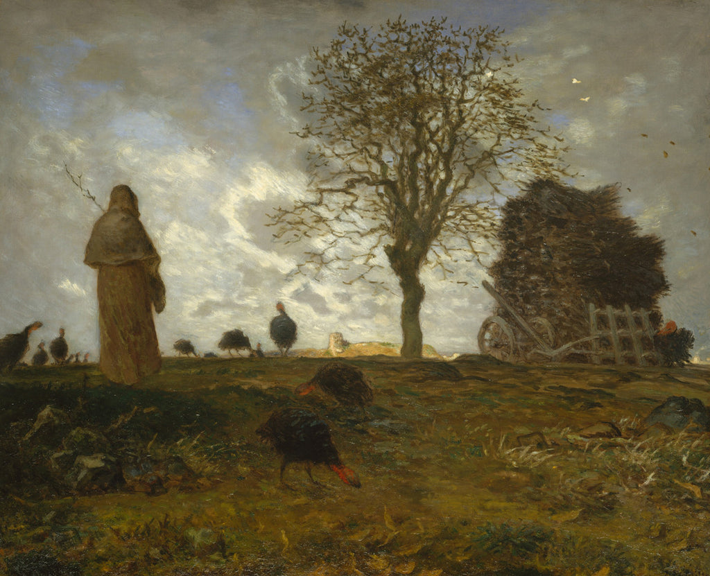 Jean-François Millet - Autumn Landscape with a Flock of Turkeys