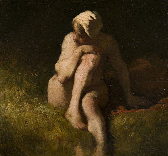 Jean-François Millet - Nude bather by the waterside
