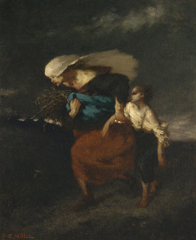 Jean-François Millet - Retreat from the Storm