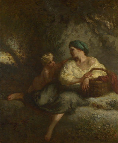 Jean-François Millet - The Whisper
