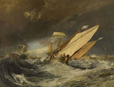 Joseph Mallord William Turner - Fishing Boats Entering Calais Harbor