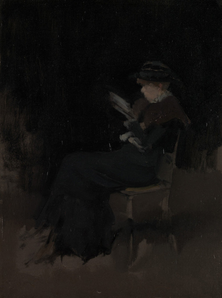James Abbott McNeill Whistler - Arrangement in Black, Girl Reading