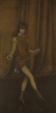James Abbott McNeill Whistler - Harmony in Yellow and Gold, The Gold Girl - Connie Gilchrist