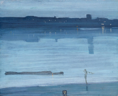 James Abbott McNeill Whistler - Nocturne, Blue and Silver Chelsea