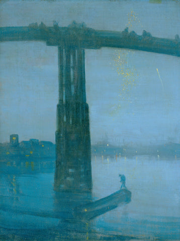 James Abbott McNeill Whistler - Nocturne in Blue and Gold Old Battersea Bridge