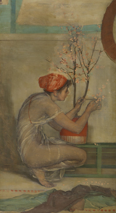James Abbott McNeill Whistler - Young Girl with Cherry Blossom