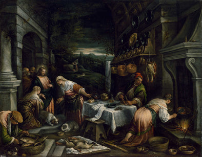 Jacopo Bassano - Christ in the House of Mary, Martha, and Lazarus
