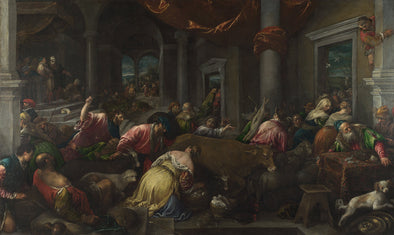 Jacopo Bassano - The Purification of the Temple