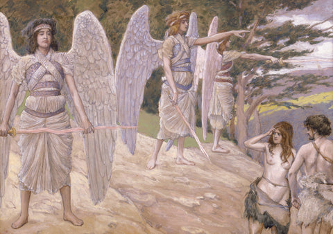 James Tissot - Adam and Eve Driven From Paradise