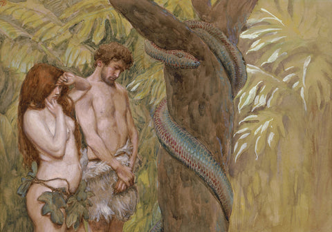 James Tissot - Gods Curse (Adam and Eve)