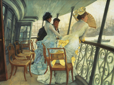 James Tissot - The Gallery of HMS Calcutta (Portsmouth)