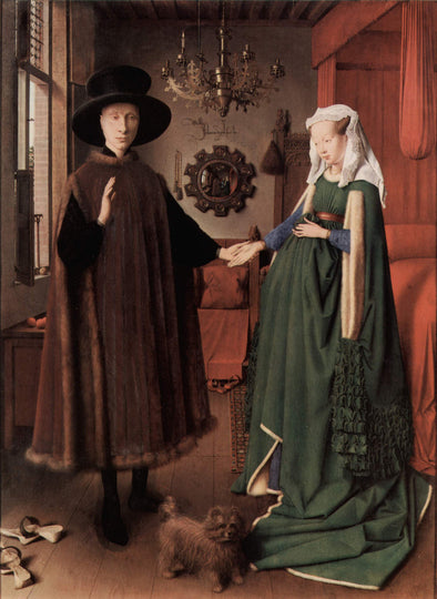 Jan van Eyck - Portrait of Giovanni Arnolfini and his Wife