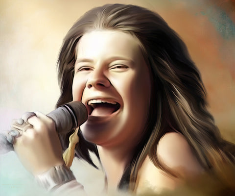 Janis Joplin Digital Painting - Get Custom Art