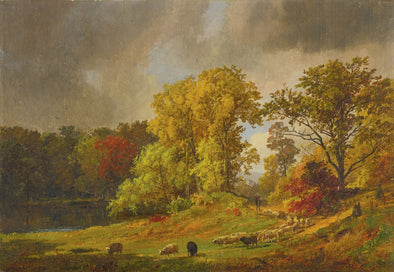Jasper Francis Cropsey - A Shepherd and his Flock