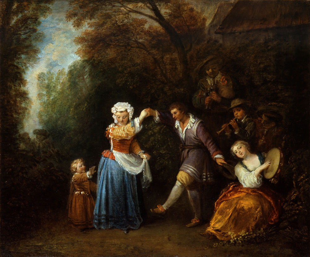 Jean-Antoine Watteau - The Country Dance