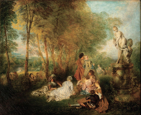 Jean-Antoine Watteau - The Feast of Love