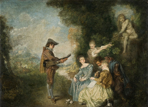 Jean-Antoine Watteau - The Love Lesson