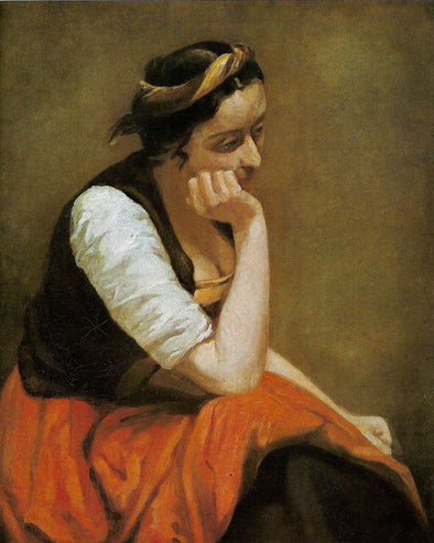 Jean-Baptiste-Camille Corot - A Thinking Girl
