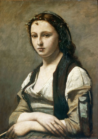 Jean-Baptiste-Camille Corot - Woman with a Pearl