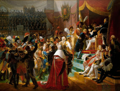Jean-Baptiste Debret - First distribution of the Legion of Honor at the Eglise des Invalides, by the Emperor