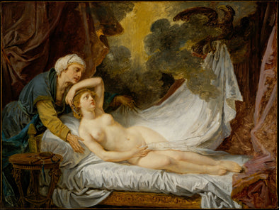 Jean Baptiste Greuze - Aegina Visited by Jupiter