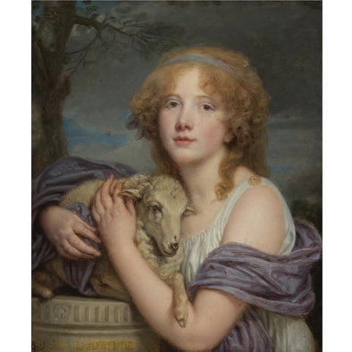 Jean Baptiste Greuze - Girl with a Lamb