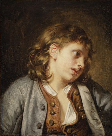Jean Baptiste Greuze - Head of a Young Boy