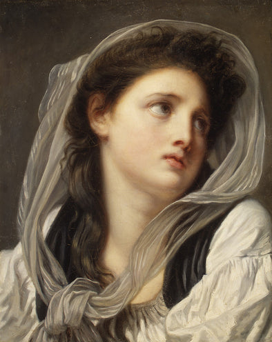 Jean Baptiste Greuze - Head of a Young Woman