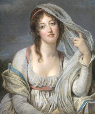 Jean Baptiste Greuze - Portrait Of Madame Van Westrenen of Tremaat