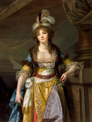 Jean Baptiste Greuze - Portrait of a Lady in Turkish Fancy Dress