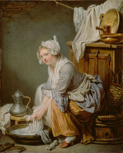 Jean Baptiste Greuze - The Laundress