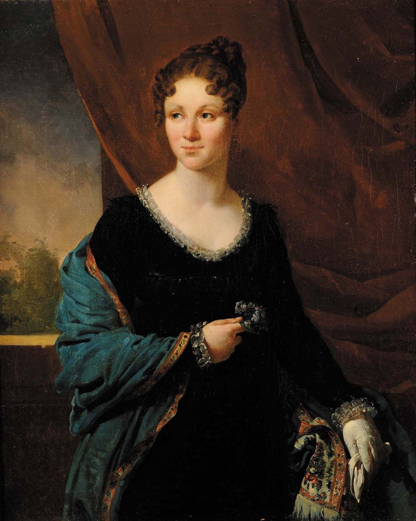 Jean-Baptiste Mauzaisse - Attributed to Portrait of a Lady