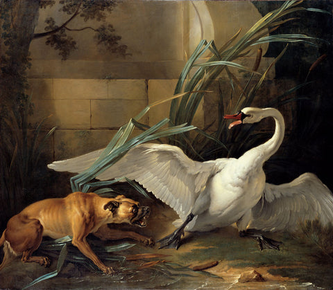 Jean-Baptiste Oudry - Swan Attacked by Dog