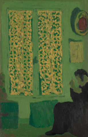 Jean-Édouard Vuillard - The Green Interior (Figure Seated by a Curtained Window)