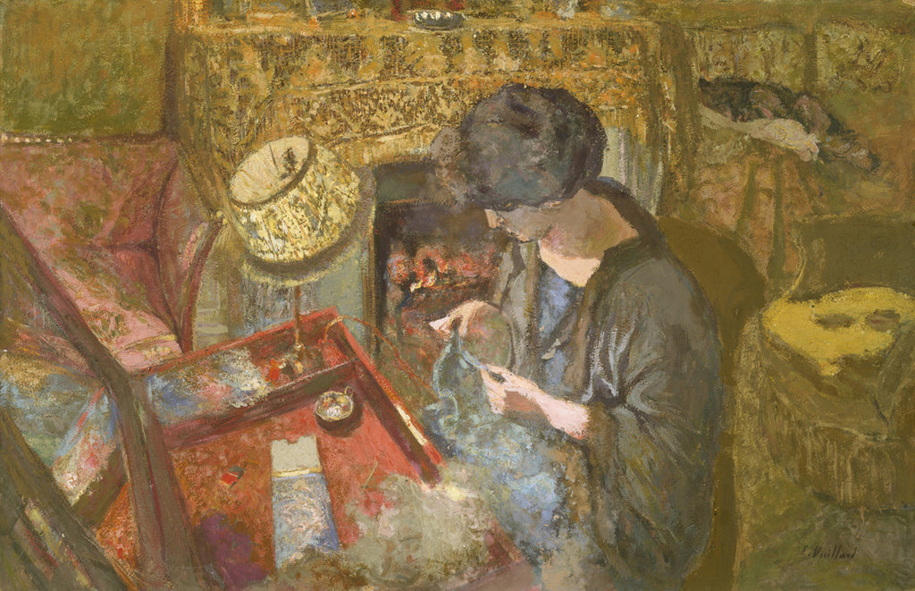 Jean-Édouard Vuillard - The Small Drawing Room, Mme Hessel at Her Sewing Table