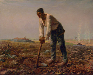 Jean-Francois Millet - Man with a Hoe