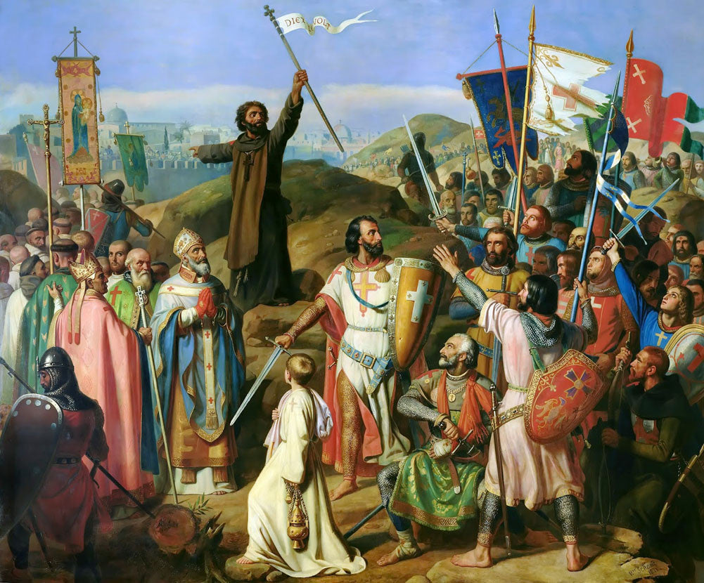 Jean-Victor Schnetz - Procession of Crusaders around Jerusalem
