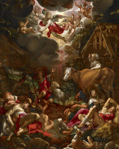 Joachim Wtewael - Annunciation to the Shepherds