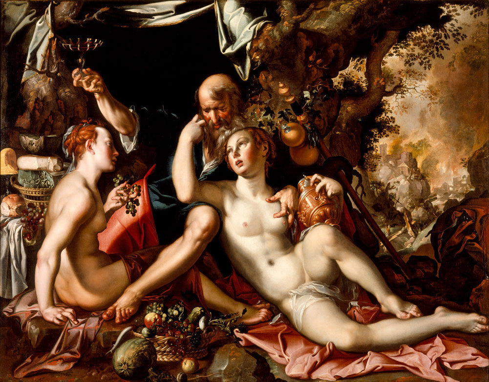 Joachim Wtewael - Lot and his Daughters