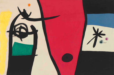 Joan Miró - Femme à la voix de rossignol dans la nuit (Woman with the Voice of a Nightingale in the Night)