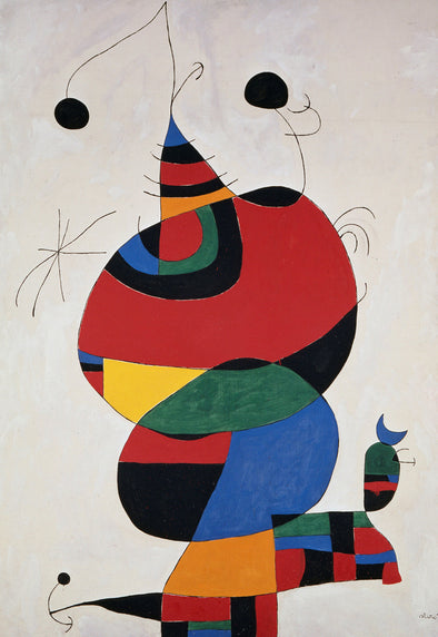 Joan Miró - Woman, Bird and Star