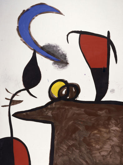 Joan Miró - Women and Bird in the Night